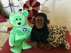 Lot of 3 Retired Ty Beanie Babies –  –  Kicks,  Congo  and  Freckles