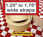 Short 1.25 To 1.75 Vegetable Tanned Tooling Leather Belt Blanks Straps Select
