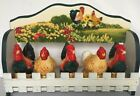 Vintage Rooster and Chicken Salt  Pepper Shakers