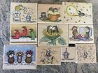 House Mouse Rubber Stamps Lot of 10 Birthday Christmas Sunfllower Stampabilities