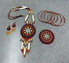 Native American Style Beaded 1 Barrette  5 Matching BraceletsNecklaceEarrings