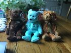 ty beanie babies set of 3 bears including champion, Ariel, teddy retired rare
