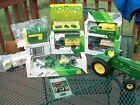 NIB JOHN DEERE DIE CAST TOY TRACTOR BANK LOT LG PLAYED W TRACTOR