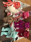 TY beanie Babies Lot Of 7 Scorch, Ariel, January, Fleece, Wiggly, Valentina +