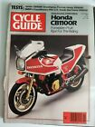 CYCLE GUIDE MAGAZINE NOVEMBER 1981 HONDA CB1100R SUZUKI DR500X