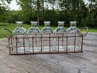 BRAND NEW 5 Bottle Stem Vases with Wire Holder FLAT SHIPPING