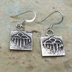 Native American Jewelry Sterling Tufa Cast Rain Cloud Earrings Santo Domingo