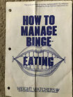 Weight Watchers vintage brochure How to Manage Binge Eating Used