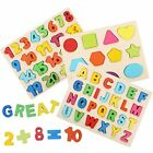 Wooden Puzzles For Toddlers Alphabet Number And Shape Kids Ages 2 3 4 5 Toys