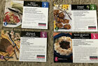 Weight Watchers Tasty Recipes 8 On 4 Two sided Winning Points Cards Vintage