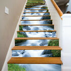 3D Green Grass Waterfall Self adhesive Staircase Stickers Stair Riser Sticker US