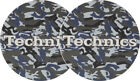 Pair Felts Anti static Wipes for Turntable Slipmats Technics Army Navy