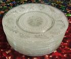 Set of 9 Vintage Indiana Glass Tiara Pattern Clear Sandwich Plates 8 1/4