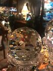 Lead Crystal Honeycomb Cut Faceted Ball Paperweight HUGE