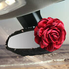 Universal Bling Diamond Rose Flower Leather Steering Wheel Cover Car Accessories