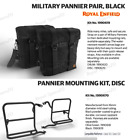 Royal Enfield Military Pannier Black & Maunting Rail Disc for Classic 350/500
