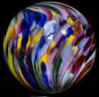 STEVE DAVIS HANDMADE GLASS MARBLE 1510 KILLER PSYCHEDELIC TWIST MULTI COLOR