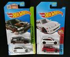 HOT WHEELS  90 HONDA CIVIC EF LOT 4 COLOR VARIATIONS RED WHITE