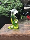 RARE! Vintage Murano Glass SOMMERSO YELLOW GREEN Sculpture ASIAN FIGURE KNEELING