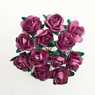 Mulberry Paper Rose Dusky Pink Small 15mm With Wire Green Bendy Stem