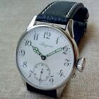 Men's LONGINES, Vintage Movement of Pocket Watch with Enamel dial in steel case.