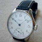 Men's WALTHAM, Vintage Movement of Pocket Watch with Enamel dial in steel case.