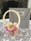 Fenton Glass Burmese Basket 2915 S3
