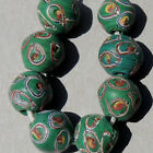 8 old antique venetian small round fancy beads african trade 1881