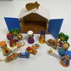 16 Piece Wood Nativity Christmas Preschool Set Hand Painted Kids Play Set
