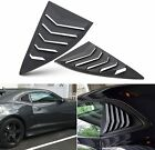 2Pcs Side Window Scoop Louvers ABS Window Visor Cover For Chevy Camaro 2010 2015