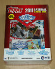 2011 Topps baseball factory sealed Value box 5 Update + 1 Bowman Chrome Trout?