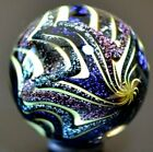 HOT HOUSE GLASS MARBLE 1520DICHROIC PSYCHEDELIC  700 ROYAL BLUESILVERVIOLET