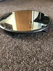 Antique Footed 14 Beveled Glass Ornate Mirror Vanity Tray Eureka Silver Co 215