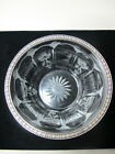 Lovely Vintage Etched Glass  Sterling Silver Edge Bowl 1905 1929