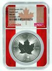 2020 Canada 1oz Silver Maple Leaf NGC MS69 Flag Core