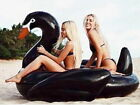 Floatie Kings Gigantic Black Swan 6 Ft Pool Float Kids Adults Inflatable Handles