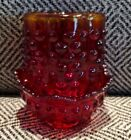 VTG hobnail Ruby Orangina 2 Pc Fairy Lamp