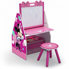 Kids Art Desk Minnie Mouse Toddler Table Chair Girl Painting Easel Toy Organizer