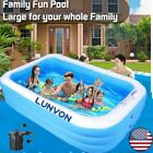 6Ft Large Inflatable Swimming Pool Family Children Adult Kids Above Ground Pool