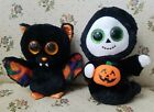 Halloween ty Beanie Plush Scarem Bat And Treats Ghost