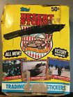 1991 Topps Desert Storm Trading Card Box 29 Unopened Packs Victory Series