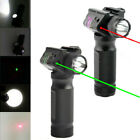 Tactical Combo Green RED Laser Sight LED Flashlight Picatinny Rail Rifle Hunting