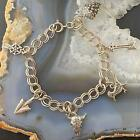 Sterling Silver Native American Symbol Charms Tennis Bracelet For Women