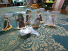 Vintage Stand Up Metal Cut Out Nativity Figures 7 Piece Set New