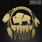 Buffalo in Dream Catcher round with feathers sticker decal Native American
