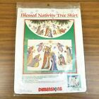 Dimensions BLESSED NATIVITY Tree Skirt Kit 8379 Counted Cross Stitch