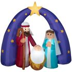 Home Accents Holiday 65 ft LED Metallic Star Nativity Scene Inflatable
