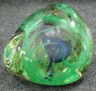 Unique Abstract Hand Blown Art Glass Paperweight Signed M Haller ROCKS