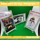 PSA 10 9 Brett Favre, Rodgers, Lacy lot GAME JERSEY, auto, sp, ssp, 1 1 PACKERS