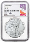 2020 1 oz American Silver Eagle 1 Coin NGC MS70 Mercanti Signed Label